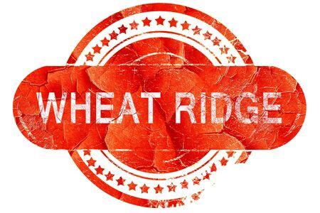 ridge: wheat ridge, red grunge rubber stamp on white background Stock Photo