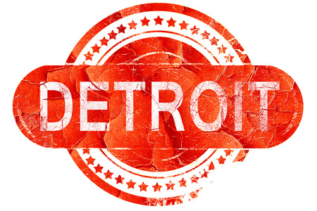 detroit: detroit, red grunge rubber stamp on white background Stock Photo