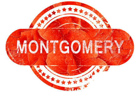 montgomery: montgomery, red grunge rubber stamp on white background Stock Photo