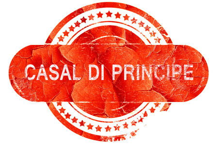principe: Casal di Principe, grunge sello de goma de color rojo sobre fondo blanco Foto de archivo
