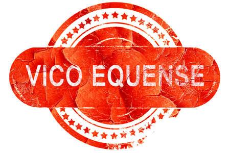 vivo: Vivo equense, red grunge rubber stamp on white background