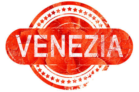 venezia: Venezia, red grunge rubber stamp on white background