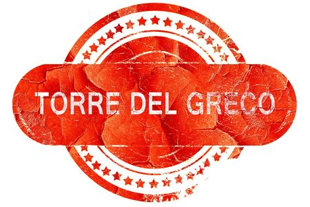 greco: Torre del greco, red grunge rubber stamp on white background
