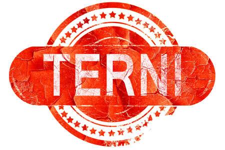 terni: Terni, red grunge rubber stamp on white background