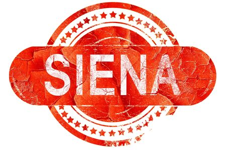 siena italy: Siena, red grunge rubber stamp on white background