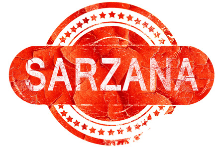 sarzana: Sarzana, red grunge rubber stamp on white background