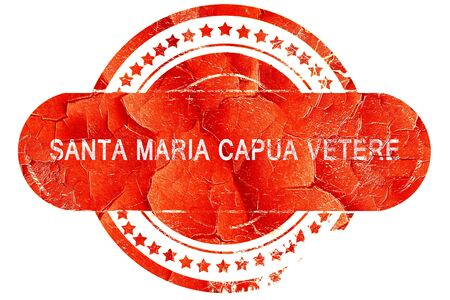 maria: Santa maria capua vetere, red grunge rubber stamp on white background