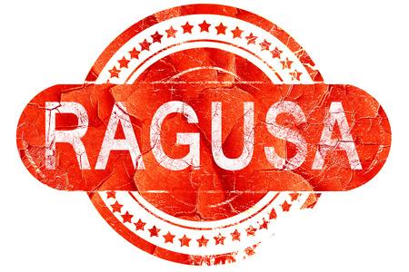 ragusa: Ragusa, red grunge rubber stamp on white background