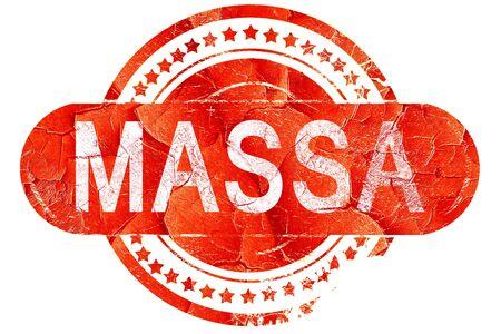 massa: Massa, red grunge rubber stamp on white background Stock Photo