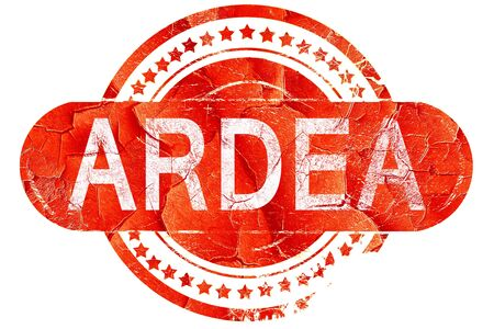 ardea: Ardea, red grunge rubber stamp on white background