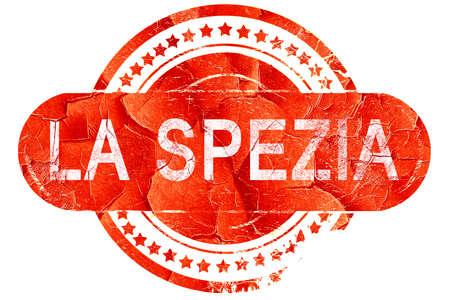 spezia: La spezia, red grunge rubber stamp on white background