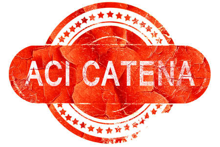 catena: Aci Catena, red grunge rubber stamp on white background