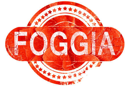 foggia: Foggia, red grunge rubber stamp on white background