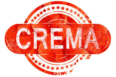 crema: Crema, red grunge rubber stamp on white background Stock Photo