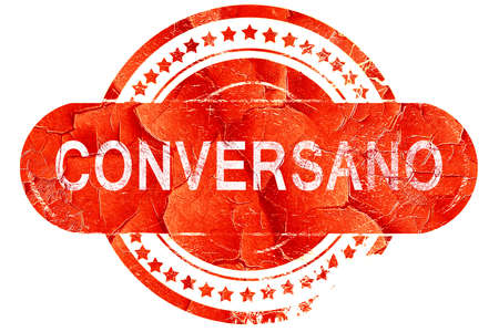 Conversano, red grunge rubber stamp on white background Stock Photo