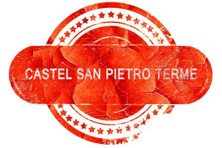 pietro: Castel san pietro terme, red grunge rubber stamp on white background Stock Photo