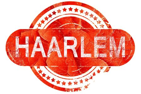 haarlem: Haarlem, red grunge rubber stamp on white background