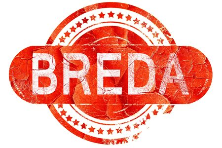 breda: Breda, red grunge rubber stamp on white background Stock Photo