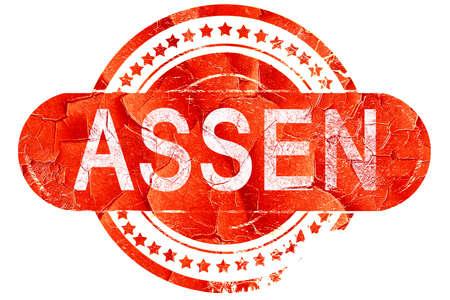 assen: Assen, red grunge rubber stamp on white background