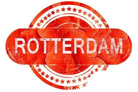 rotterdam: Rotterdam, red grunge rubber stamp on white background