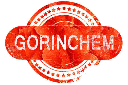 gorinchem: Gorinchem, red grunge rubber stamp on white background