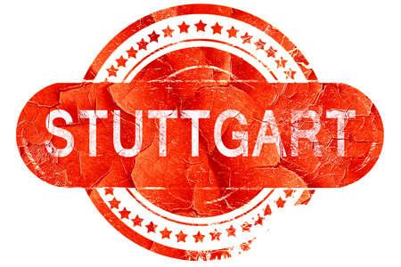 stuttgart: Stuttgart, red grunge rubber stamp on white background