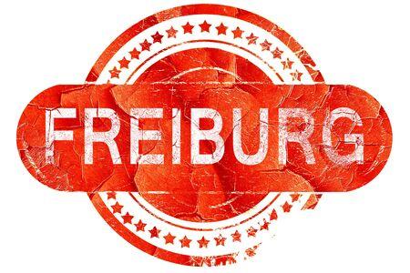 freiburg: Freiburg, red grunge rubber stamp on white background