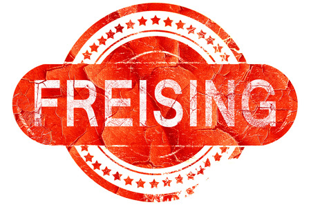 freising: Freising, red grunge rubber stamp on white background Stock Photo