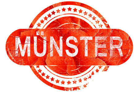 munster: Munster, red grunge rubber stamp on white background Stock Photo