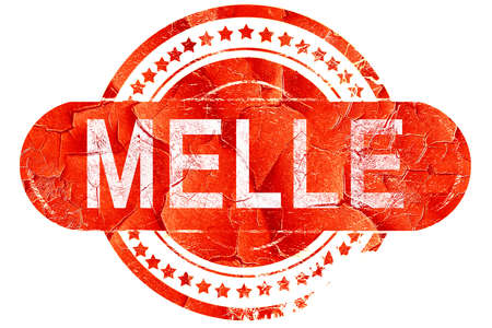 melle: Melle, red grunge rubber stamp on white background Stock Photo
