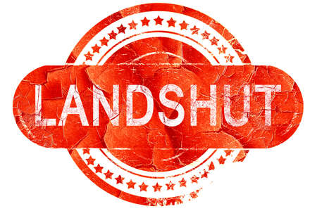landshut: Landshut, red grunge rubber stamp on white background Stock Photo