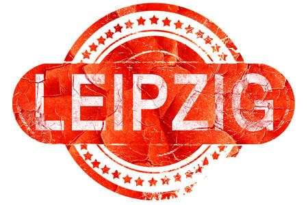 leipzig: Leipzig, red grunge rubber stamp on white background