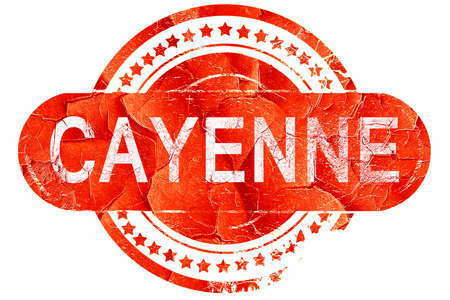 cayenne: cayenne, red grunge rubber stamp on white background Stock Photo
