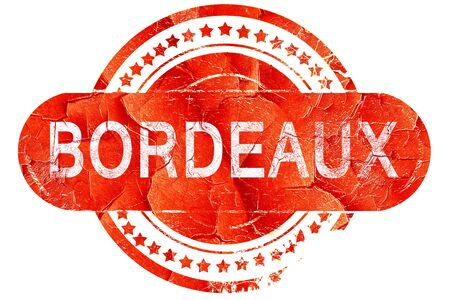 bordeaux: bordeaux, red grunge rubber stamp on white background