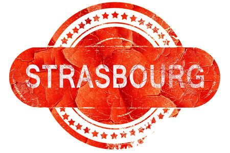 strasbourg: strasbourg, red grunge rubber stamp on white background