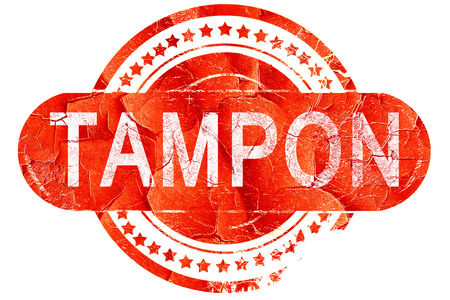 tampon: tampon, red grunge rubber stamp on white background