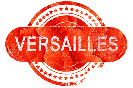 versailles   france: versailles, red grunge rubber stamp on white background Stock Photo