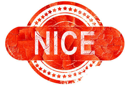 nice france: nice, red grunge rubber stamp on white background