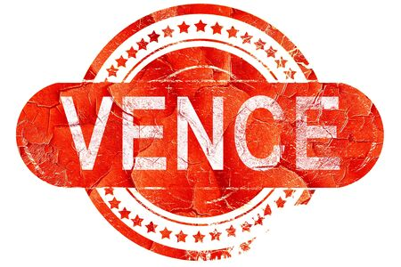 vence: vence, red grunge rubber stamp on white background Stock Photo