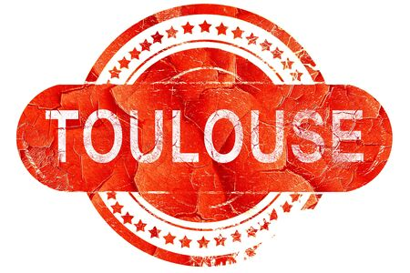 toulouse: toulouse, red grunge rubber stamp on white background Stock Photo