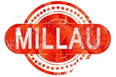 millau: millau, red grunge rubber stamp on white background