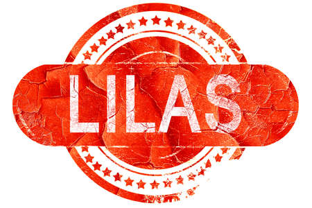 lilas: lilas, red grunge rubber stamp on white background