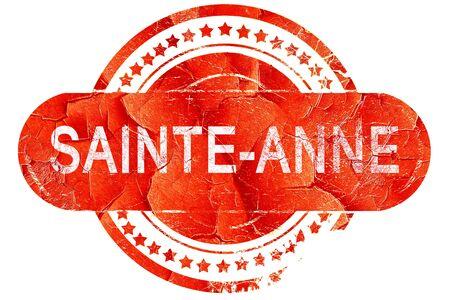 白い背景の上モンサンタンヌ, 赤グランジ ゴム印 写真素材