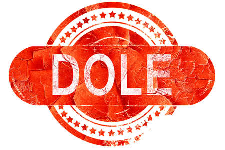 on the dole: dole, red grunge rubber stamp on white background
