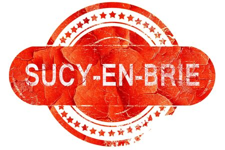 brie: sucy-en-brie, red grunge rubber stamp on white background