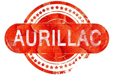aurillac: aurillac, red grunge rubber stamp on white background Stock Photo