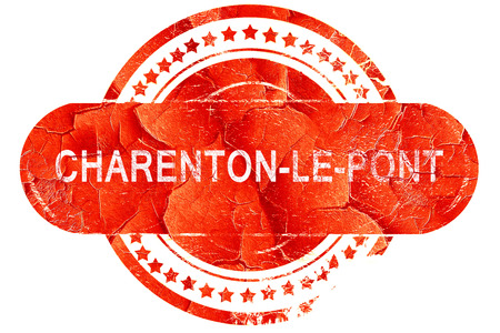 pont: charenton-le-pont, red grunge rubber stamp on white background Stock Photo