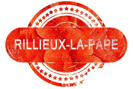 pape: rillieux-la-pape, red grunge rubber stamp on white background