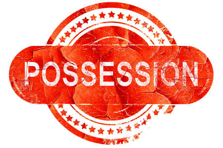 possession: possession, red grunge rubber stamp on white background Stock Photo
