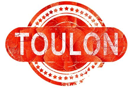 toulon: toulon, red grunge rubber stamp on white background